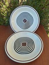 Antiguo gran plato de cerámica FABRICADO en FRANCIA, vintage Diseño SIGLO XX