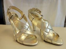 BCBG Generation New Store Display Model Womens Laggo Gold Heels 8.5 M Shoes