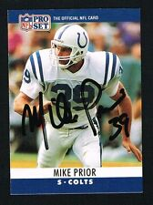 Mike Prior #133 signed autograph auto 1990 Pro Set Football Trading Card