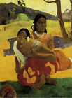 When Will You Marry ? by Paul Gauguin 1892 Haiti Fine Art Poster Repro FREE S/H