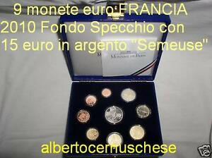 2010 9 monete euro proof BE FRANCIA France Frankreich