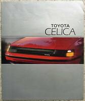 TOYOTA CELICA Car Sales Brochure c1985 #00000-90399-BR