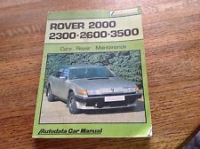 Rover 2000 2300 2600 3500 Care, Repair, Maintenance Autodata Car Manual