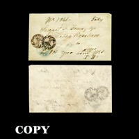 ROMANIA  1858  27 PARALE CANCELLED  BAKEU 27-10  ON COVER     COPY