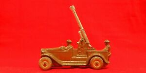 Vintage MANOIL BARCLAY Lead Toy Soldier Anti Aircraft CANNON TRUCK OP