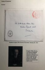 1950 Douglas Clifton Speaker House Of Comms England Official Cover To Doncaster
