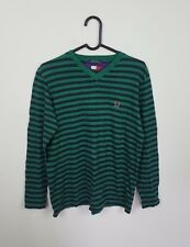 MENS STRIPED VTG TOMMY HILFIGER OVERHEAD ATHLETIC SPORTS THIN JUMPER SWEATSHIRT
