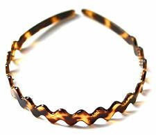 French Acetate Wave Headband Yellow Tokyo Tortoise Shell Headpiece Hair Clip M09