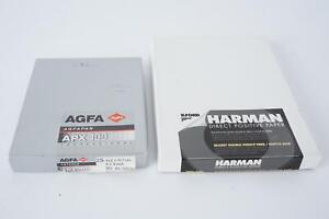 Harman direct positive paper, 5x7inch + Agfa APX100 4x5inch sheet film
