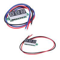 """Mini 0.28"""" DC Digital Voltmeter Panel Mount LED Voltage Volt meter Red 3.0~30V"""
