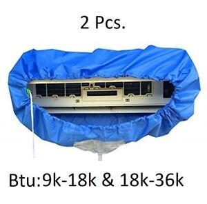 2 Pcs MINI SPLIT A/C UNIT CLEANING COVER,SIZE 9k-12k-18k and 18k-24k-36k BTU