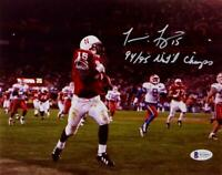 Tommie Frazier Autographed Nebraska Cornhuskers 8x10 Photo w/Insc- Beckett Auth