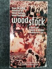 Woodstock 3 Days Of Peace & Music Directors Cut VHS Part 1 & 2