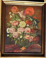 H Arens/Ahrens(?) sehr schönes Blumen-Stillleben/-Bouquet Gemälde/Ölbild