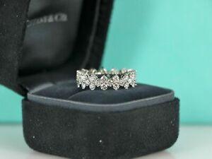 $16,500 Tiffany & Co ARIA Platinum Round 2.67ct Diamond Wedding Band Ring 7.5