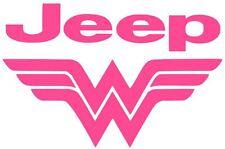 WONDER WOMAN JEEP Car Truck Vinyl Decal Sticker JEEP GIRL WOMAN LADY (10 COLORS)