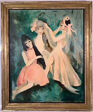 Listed French Artist Marie Laurencin (1883-1956) Signed Oil On Canvas Painting