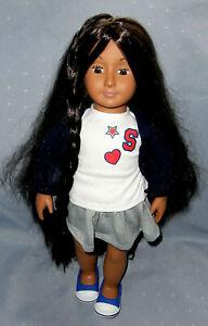 Battat Our Generation Long Grow Hair Brunette Doll