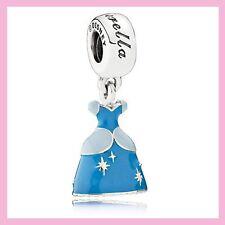 Disney Princess Cinderella Dress Pandora Charm Bracelet Bead NEW!