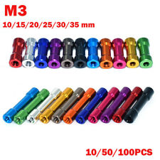 10~100PCS 10mm~35mm M3 Aluminum Column Standoffs Spacer Round Head Colorful HOT