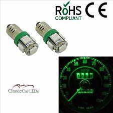 2x GREEN 24 VOLT 24V CLASSIC COMMERCIAL LED INSTRUMENT GAUGE BULBS E10MES GLB993