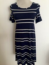 Jersey 3/4 Sleeve Striped Dresses for Women