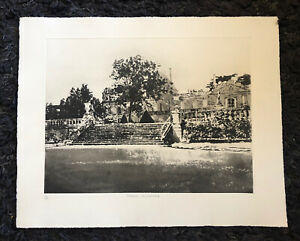 "NORMAN ACKROYD RA 1938 ""Chateau Beychevelle"" large Limited Ed ETCHING ed 100/150"