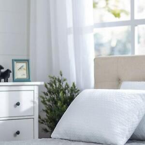 Spa Sensations by Zinus Memory Foam Cool Pillow, White