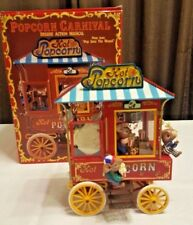 1992 Enesco Popcorn Carnival Deluxe Action Musical Mice Pop Goes the Weasel