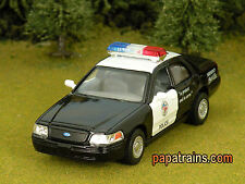 Die Cast Black Ford Crown Victoria Police Interceptor O Scale 1:42 By Kinsmart