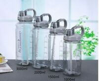 1L 2L 3L Portable Sport Gym Water Bottle with straw BPA FREE Plastic