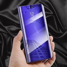 Para Huawei Y7 2018 Transparente Ver Smart Funda Lila Despertar Up Protectora
