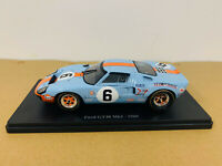Ford GT40 MK1 #6 1969 Blue 1:24 Scale DieCast Model Car New in Box
