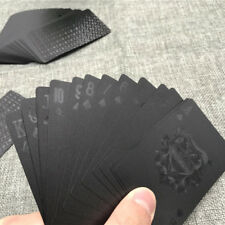Creative Black Plastic PVC Poker Waterproof Magic Playing Cards Table Game Set