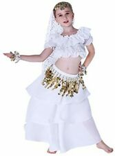 Belly Dance Halloween Girls Costume Kids Child Top Skirt Party Outfit Cute White