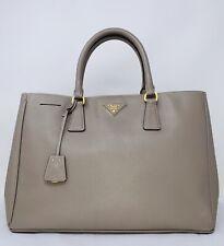 PRADA Saffiano Lux Large Tote Argilla Bag Purse ❤️