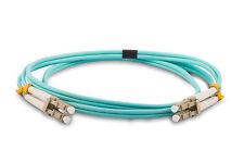 5 Meter/16.5 Feet Duplex Multimode LC to LC Fiber Patch Cable - OM3 10GB Aqua