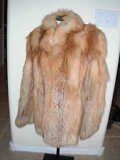 Genuine Vintage Real Fur Red Fox Short M Coat Jacket Stole