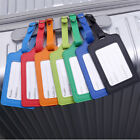 Leather Luggage Tags Suitcase ID Card Name Label Baggage Address Tag Travel 1pc