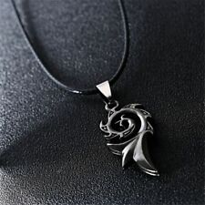 Titanium Steel Men's Rope Fire Shaped Necklace Chain Pendant Fashion Jewelry