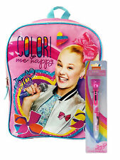 "Girls JoJo Siwa 15"" Backpack Color Me Happy w/ Retractable 6-in-1 Stamp Pen"