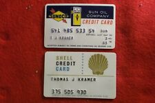 VINTAGE 1965 SUNOCO AND UNDATED SHELL GAS CREDIT CARD NO RESERVE