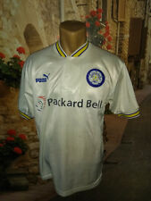 SMALL LEEDS UNITED VINTAGE PUMA 1996 - 1998 HOME SHIRT MADE IN ENGLAND