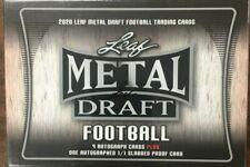 2020 Leaf Metal Draft Football Jumbo Wax Box 9 Autos & 1 Slabbed Factory Sealed