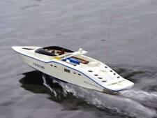 Ad alta velocità Radio Telecomando RC secolo Da Corsa Velocità Barca Bianco Nero Venerdì