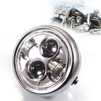 """Motorrad 6.5"""" LED Scheinwerfer 40W High/Low Beam für Harley Bobber Honda Suzuki"""