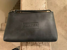 Hunter for Target Large Dynamic Black Zipper Pouch Wristlet Cosmetic Bag