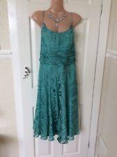 👗 Monsoon Green 55% Silk 45% Viscose Dress Size 18 (small Made) Vgc