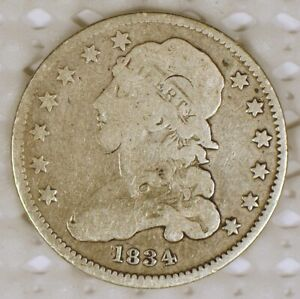 1834 Capped Bust Quarter from the US Mint with Rotated Die