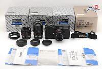 ◉RARE SET!!ALL BOXED◉ KONICA HEXAR RF RANGEFINDER W/ M HEXANON 28MM, 50MM 90MM